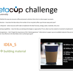 cup >>> building materials for 3rd world countries