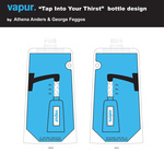 """Tap Into Your Thirst"" bottle design"