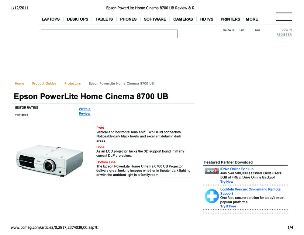 Epson powerlite home cinema 8700 ub review rating pcmag bigger