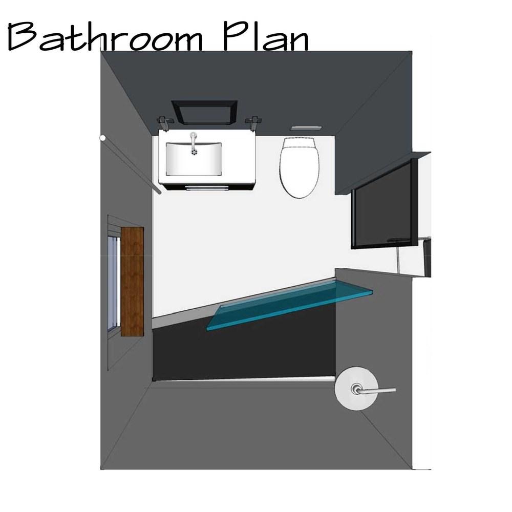 Bathroom plan bigger