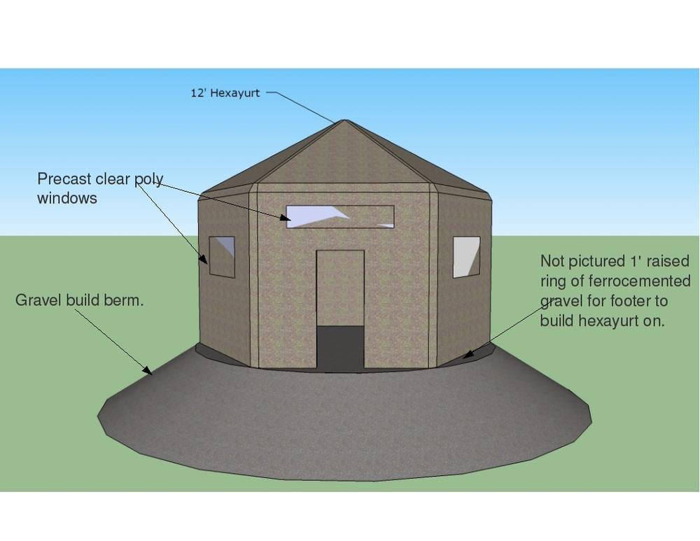Open source ferrocement hexayurt 39 the 300 house for Ferrocement house plans