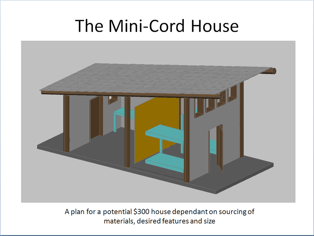 Mini cord house 39 the 300 house 39 challenge 300 house for House material calculator