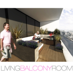 living balcony room
