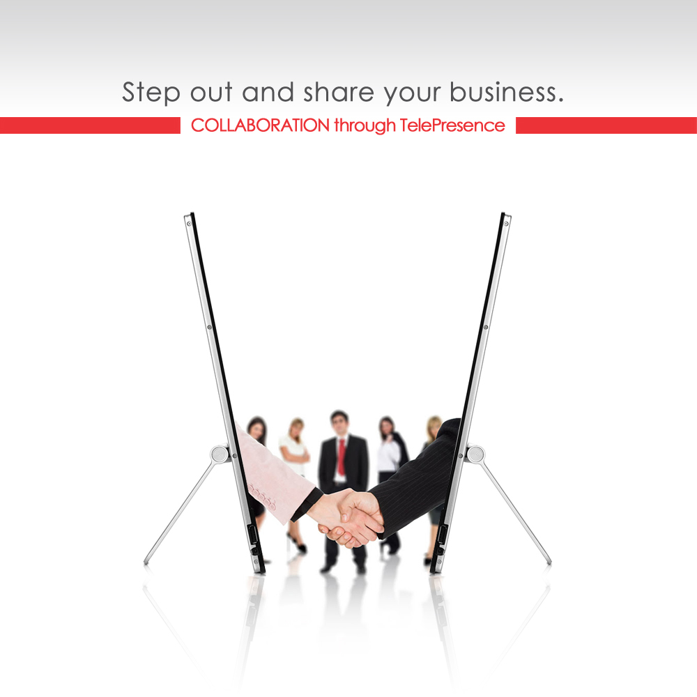 Step out and share your business red bigger