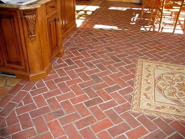 Brick Or Granite Pavers With Rock And Water Features