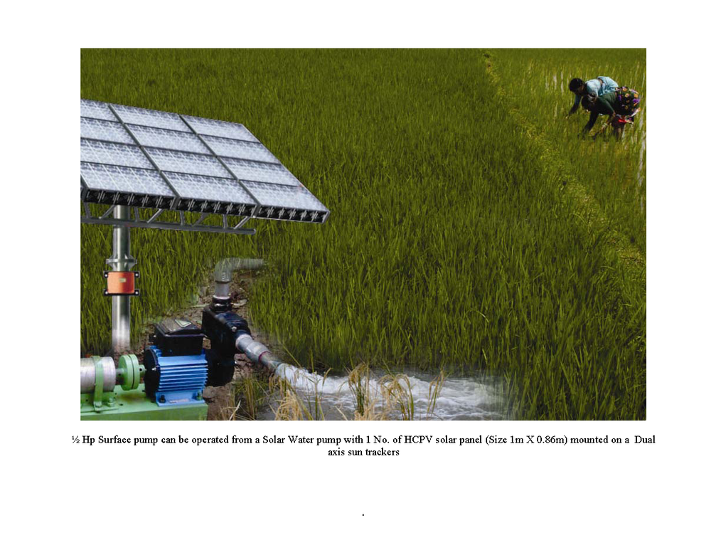 Pcube solar water pump for agriculture bigger