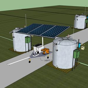Low Cost Solar & Biomass hybrid Pump for community