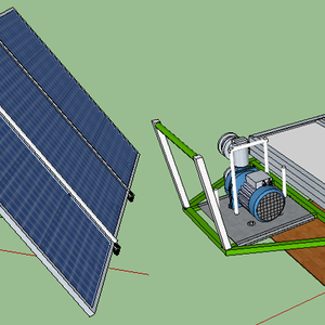 Solar panel powered portable water pump